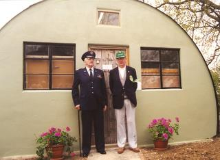 1996 - L-R Ralph Belward and Charles Freudenthal open the 489th Bomb Group Museum