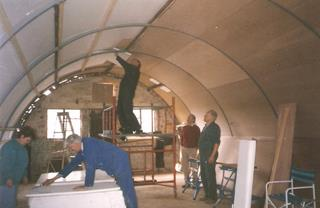 Nissen Hut refurbishment 3