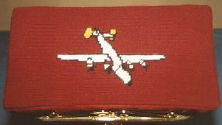 B24 - Church kneeler stitched by Beverly Stenger whose husband, 489th veteran Dick Stenger, was a pilot with the group