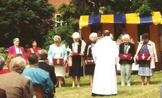1994 - 489th Church Kneelers are blessed at Holton St Peter's open air church service