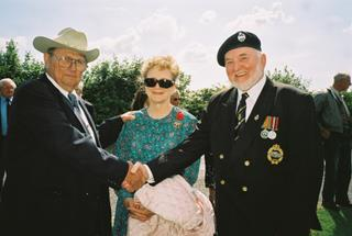 489th veteran 'RB' & Lucille Tolson with Ron Manning, Royal British Legion, Halesworth