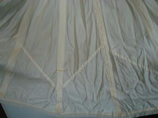 Detail from Helen McMullen's parachute wedding dress