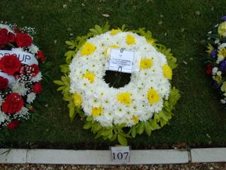 2009 Memorial Service - 489th  Bomb Group Wreath
