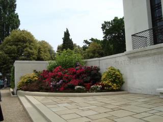 2009 - Flower beds beside the Chapel