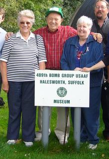 489th Veteran Bob Carlton, Lois Carlton and Peggy Hurren - September 2008