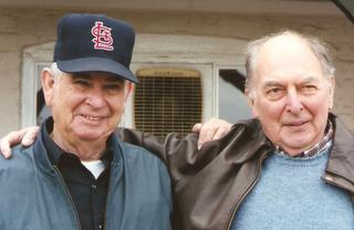 489th Veterans Paul (Varyl) Gannaway and John deCani, Halesworth 1995