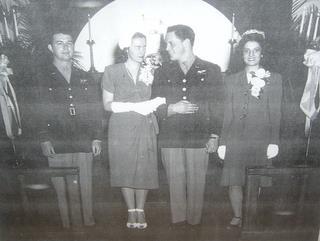 489th Veteran Bud Chamberlain marries Ann Laird