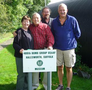 2008 - Bob Carlton with family at 489th Museum (Hardwick)