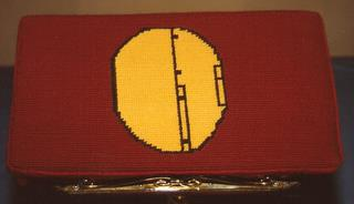 Yellow Tail - Church kneeler stitched by Helen Freudenthal whose husband, 489th veteran Charles Freudenthal, was Group Bombardier