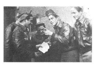 L-R: Artie Meehan (hidden), Al Schwartz, Bill House, Bud Ellis and Les Gaver.  (Sandy not shown)