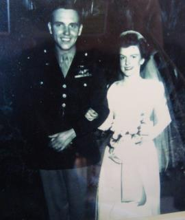 489th Pilot Jack and Helen McMullen on their Wedding Day