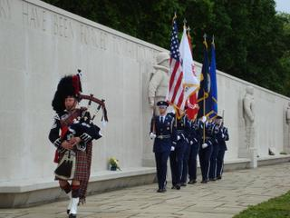 2009 - The Posting of Colors - RAF Mildenhall Honor Guard