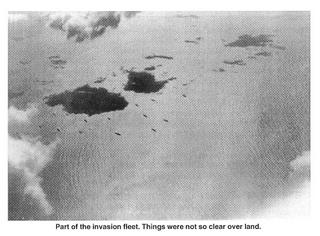 Part of the D-Day Invasion Fleet from 'A History of the 489th'