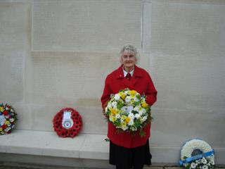 2011 Maisie Woolnough (Friends of the 489th) laid our tribute