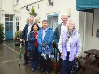 2011 David and Wilaine Loo with Bob Shiers, Sid and Pam Wilby, Angel Hotel, Halesworth