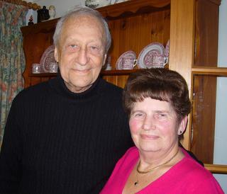 489th Veteran Mickey Baskin with Marlene Kerrison